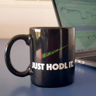 Taza Criptomonedas y bitcoin Just HODL It