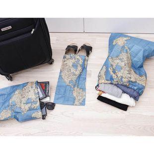 Kit de bolsas para viaje, mapamundi