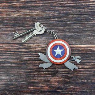 Llavero multiusos Capitán América
