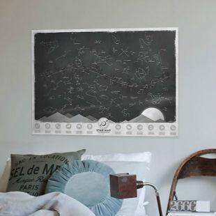 Póster mapa estelar, fosforescente
