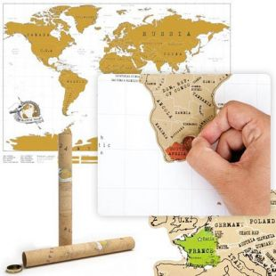 Poster Mapamundi para rascar países