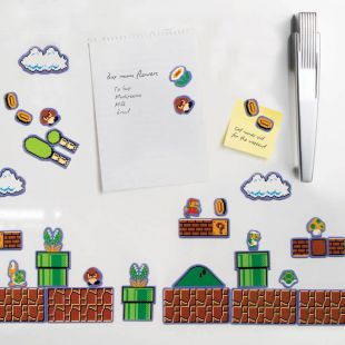 Set 80 imanes de nevera Super Mario Bros