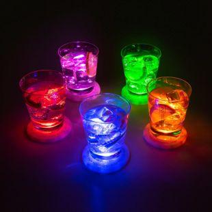 Set 5 posavasos luz LED modelo UFO - Ovni