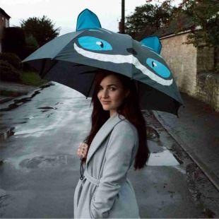 Paraguas Gato azul travieso manga