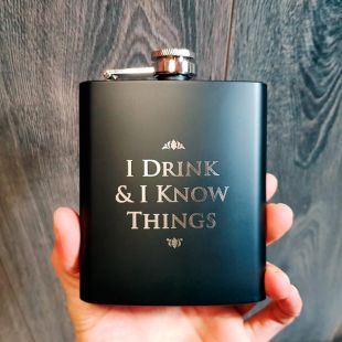 Petaca Tyrion - I drink and i know things - de Juego de Tronos