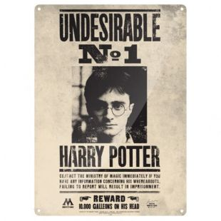 Placa decorativa Harry Potter Undesirable Nº1