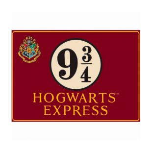 Placa de metal Hogwarts Express Andén 9 y 3/4 (41 x 30 cm)