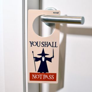 Colgador de puertas (poming) Mago You Shall Not Pass