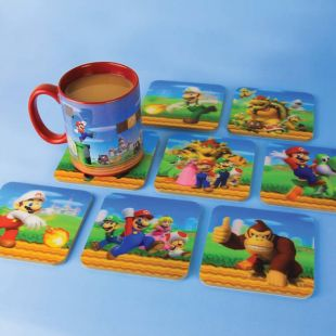 Set 8 posavasos Super Mario 3D