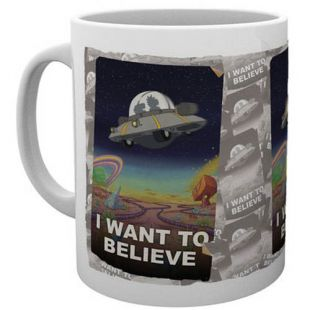 Taza Rick and Morty, I Want to Believe