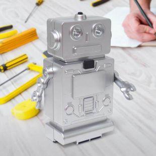 Set de herramientas con forma de Robot y luz en los ojos