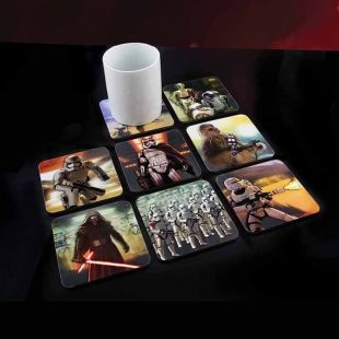 Set 8 posavasos Star Wars 3D
