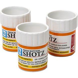 Chupitos frasco de pastillas (Pack 3)