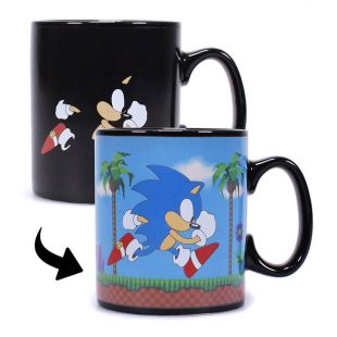 Taza termosensible Sonic The Hedgehog, de SEGA