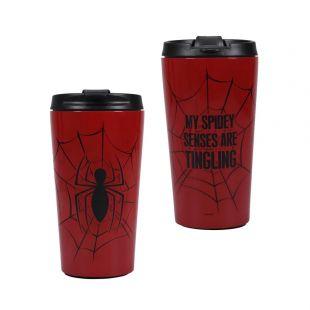 Taza de viaje de metal Spiderman