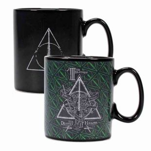 Taza termosensible Reliquias de la Muerte de Harry Potter