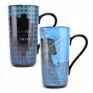 Taza latte Juego de Tronos Winter termosensible