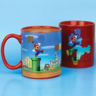 Taza Super Mario 3D sensible al calor