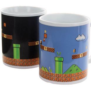 Taza Super Mario Bros, sensible al calor