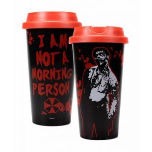 "Taza de viaje ""I am not a morning person"" de Resident Evil"
