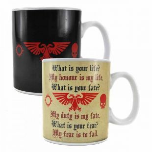 Taza termosensible Space Marine pledge  Warhammer 40k