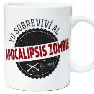 Taza Yo sobreviví al apocalipsis Zombie