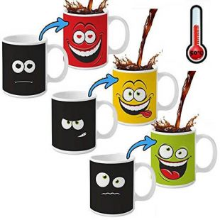 Tazas Happy Face, sensibles al calor
