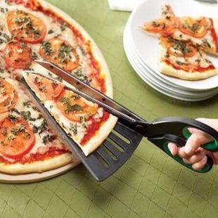 Tijeras para pizza con espátula