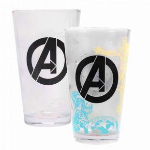 Vaso alto Avengers cambia de color con líquido frío