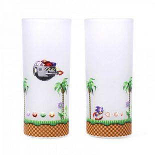Set 2 vasos tubo Sonic y Eggman