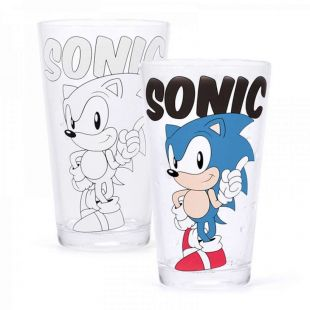 Vaso alto termosensible Sonic the Hedgehog
