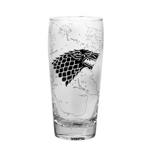 Vaso alto casa Stark, King in the North 550ml