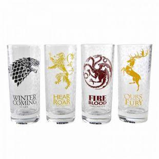 Set 4 Vasos casas de Juego de Tronos