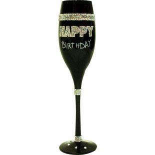 Copa de Champagne negra - Birthday