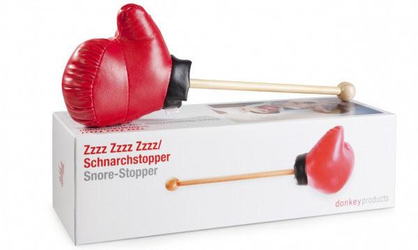 Solución roncar, guante boxeador